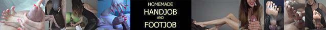 Homemade Handjob & Footjob
