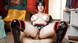VRCosplayX.com Big Titted Ryuko Fucks And Sucks You Dry