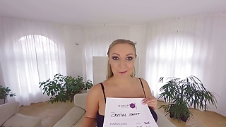 G4 girl blonde with huge boobs - Huge boobs in vr casting