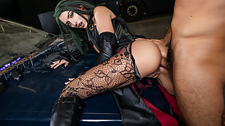 VRCosplayX Naughty BULLET WITCH Getting Big Dick In Her Ass