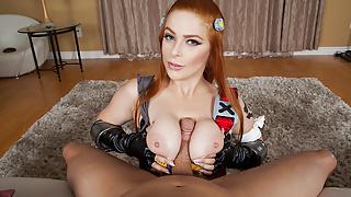 VRCosplayX.com Busty Redhead Brigitte Tuning Up Your Cock