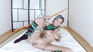 Bondage being tied Virtual taboo - sexy onix babe bating her twat being tied