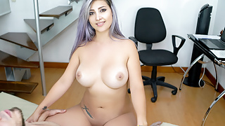 VRLatina - Pretty Teen Working From Home - 5K VR Sex