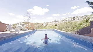 Swim n suck porn video - Virtual taboo - little sister suck and fuck your cock near swimming pool