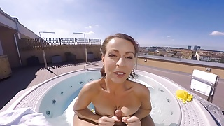 Reality Lovers - Caroline has VR outdoor jacuzzi sex