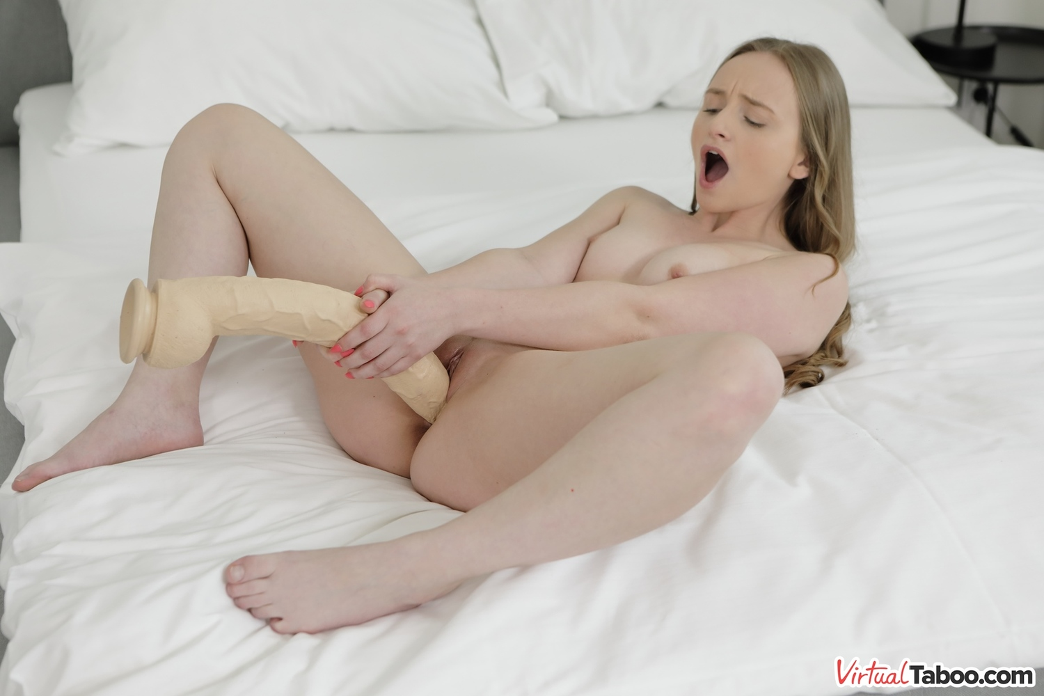 Petite Girl Feeding Her Pussy With Monster Dildo Porn A0-1755