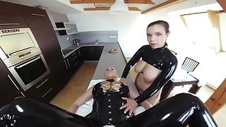 Mistress with Busty Slave